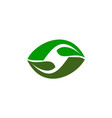 green project solution center initial s vector image
