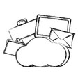 grunge cloud data network connection server vector image