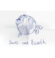 hand drawn cartoon earth vector image