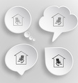 Home comfort White flat buttons on gray background vector image