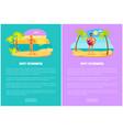hot summer web posters set woman in bikini man vector image vector image