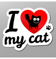 i love may cat vector image vector image