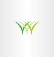 icon logo green grass symbol vector image vector image