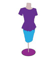 image of a woman dress vector image vector image