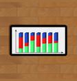 infochart on tablet vector image vector image