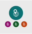 location icon simple vector image vector image