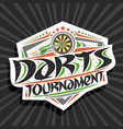 logo for darts tournament vector image