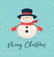 merry christmas postcard christmas cute vector image vector image