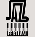 music poster for a jazz festival with piano keys vector image vector image
