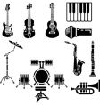 musical instrument icons vector image
