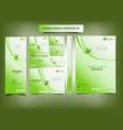 natural branding business card banner item vector image vector image