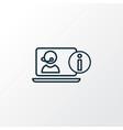 online consulting icon line symbol premium vector image