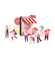 people characters buying in online store website vector image