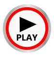 play icon vector image vector image