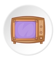 Retro TV icon cartoon style vector image vector image