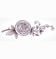 rose stylized flower hand drawing vector image vector image