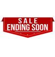 sale ending soon banner design vector image vector image