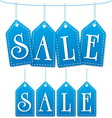 sale label tags blue vector image vector image