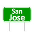 San Jose green road sign vector image