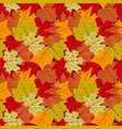 seamless pattern with leafs autumn leaf background vector image vector image