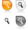 Searching button vector image vector image