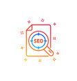 seo target line icon search engine optimization vector image vector image