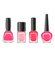 set of bottles with nail polish vector image
