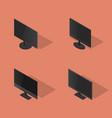 set of flat monitors in 3d vector image vector image