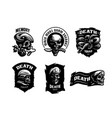 set skull emblems vector image