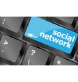 Social network keyboard key button Keyboard keys vector image