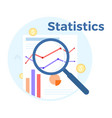 statistics analysis flat vector image vector image