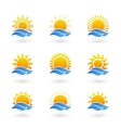 Sunrise or sunset icons vector image vector image