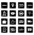 Taxi set icons grunge style vector image