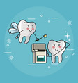 tooth fairy and dental care vector image