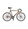 track sport bicycle sketch engraving vector image vector image