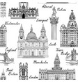 travel europe famous city landmark uk seamless vector image vector image