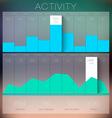 Trendy Flat Charts Widgets infographics vector image vector image