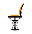 vintage restaurant chair vector image