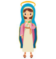 virgin mary saint mary the mother of god vector image vector image
