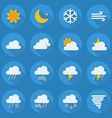 Weather Flat Icon Set vector image vector image