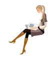 woman reading vector image