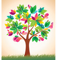 beautiful colorful tree vector image