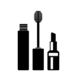 Mascara and lipstick icons vector image