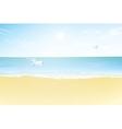 Seascape Paradise beach vector image