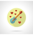 Love melody icon flat style vector image