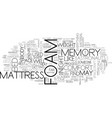 a deeper look at the memory foam mattress text vector image vector image