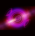 abstract digital future technology concept vector image vector image