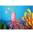 An octopus under the ocean vector image vector image