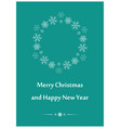 aquamarine greeting card for christmas vector image vector image