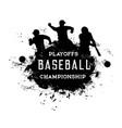baseball playoffs championship grunge vector image vector image